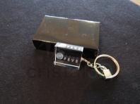Llavero cristal: 30x24x10mm Logo Feve 2