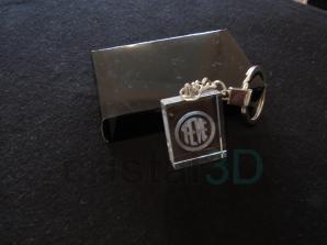Llavero cristal: 30x24x10mm Logo Feve 1