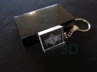 Llavero cristal: 30x24x10mm Logo Feve 3