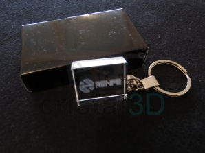 Llavero cristal: 30x24x10mm Logo Renfe 6