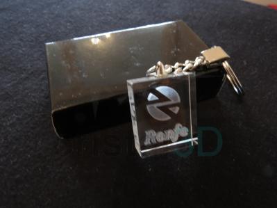 Llavero cristal: 30x24x10mm Logo Renfe 9