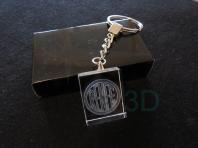 Llavero cristal: 30x24x10mm Logo Renfe 1