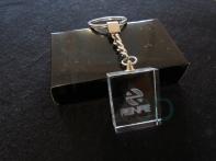 Llavero cristal: 30x24x10mm Logo Renfe 8