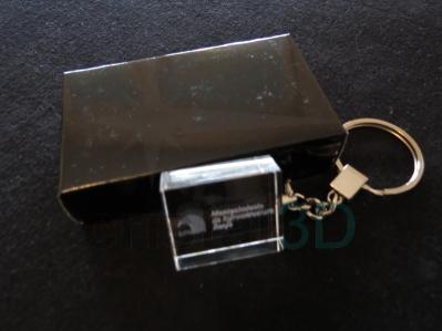 Llavero cristal: 30x24x10mm Logo Renfe 12