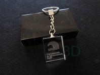 Llavero cristal: 30x24x10mm Logo Renfe 11