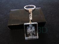 Llavero cristal: 30x24x10mm Logo Renfe 4
