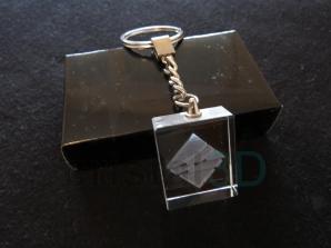 Llavero cristal: 30x24x10mm Logo Renfe 13