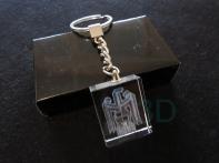 Llavero cristal: 30x24x10mm Logo Renfe 3