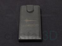 Grabado láser sobre funda de piel de teléfono móvil, también sobre otros materiales