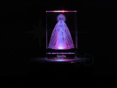 Personalización prisma 50x50x80 en 3D. #Macarena Sevilla Customization prism 50x50x80 in 3D #Macarena Sevilla
