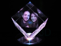 Cubo personalizado 60x60x60 truncado, foto pareja. Personalized cube 60x60x60 cut corner, photo