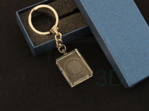 Llavero 30x24x10mm personalizado. Keyring 30x24x10mm personalized.