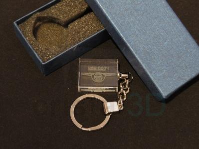 Llavero cristal: 30x24x10mm Logo Renfe 14