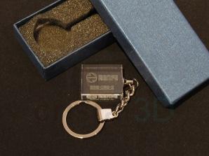 Llavero cristal: 30x24x10mm Logo Renfe 20