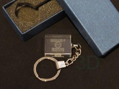 Llavero cristal: 30x24x10mm Logo Renfe 21