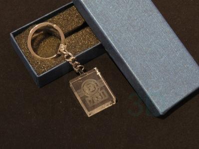 Llavero cristal: 30x24x10mm Logo Renfe 23