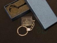 Llavero cristal: 30x24x10mm Logo Renfe 24