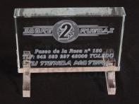 Personalización prisma 120x80x19mm. #Sobre2Ruedas Personalized prism 120x80x19mm.