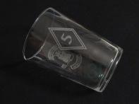 Vaso de 53cl, personalizado, grabado a dos caras con distintos emblemas. #ExconsuraosMCAsturias