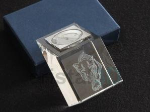 Prisma con reloj personalizado 50x50x80mm