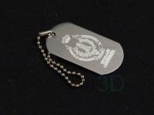 Llavero de aluminio personalizado con el escudo del #RegimientodeMovilizaciónyPracticasdeFFCC