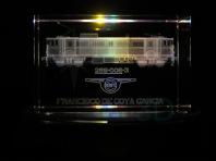 Personalización prisma 50x50x80 en 3D. Locomotora 269, más versiones disponibles. Customization prism 50x50x80 in 3D. Locomotive 269, more version avaliable.